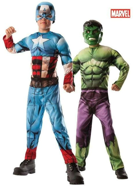 REVERSIBLE CAPTAIN AMERICA/HULK COSTUME FOR BOYS