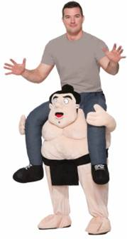 RIDE-ON SUMO WRESTLER COSTUME FOR ADULTS