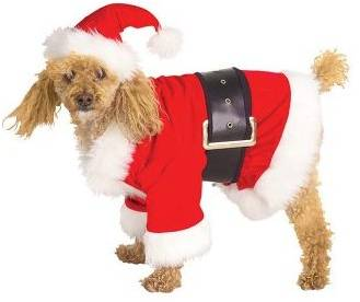 SANTA DOGGIE SUIT COSTUME FOR DOGS