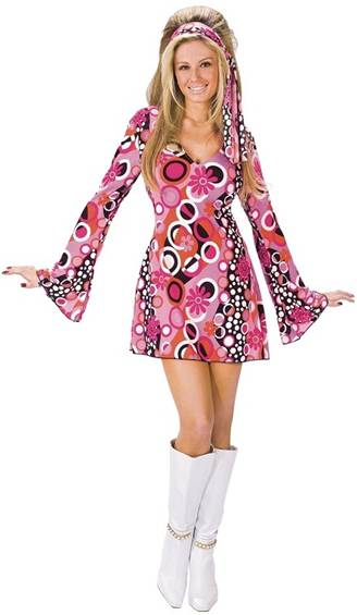 FEELING GROOVY SEXY 70s COSTUME FOR WOMEN