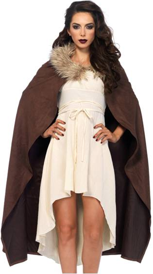 SEXY WARRIOR COSTUME CAPE ACCESSORY FOR WOMEN