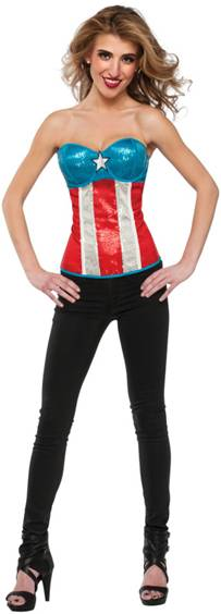 AMERICAN DREAM SEQUIN CORSET