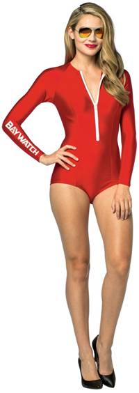 LICENSED BAYWATCH LIFEGUARD COSTUME FOR WOMEN