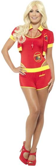 DELUXE BAYWATCH LIFEGUARD COSTUME FOR WOMEN