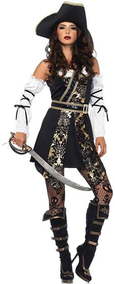 SEXY BLACK SEA BUCCANEER PIRATE COSTUME FOR WOMEN