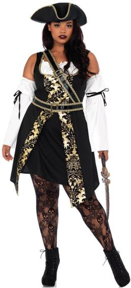 BLACK SEA BUCCANEER PIRATE COSTUME FOR PLUS WOMEN