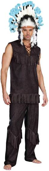 SEXY INDIAN CHIEF WANSUM TAIL COSTUME FOR MEN