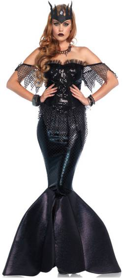 SEXY DARK WATER SIREN MERMAID COSTUME FOR WOMEN