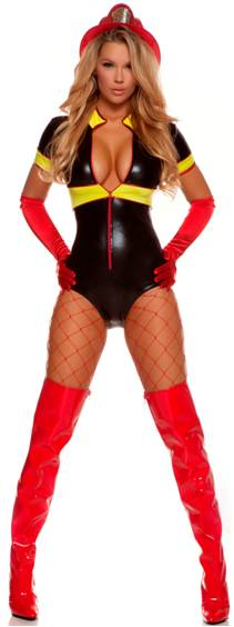 SEXY HOT SPOT FIREFIGHTER COSTUME FOR WOMEN