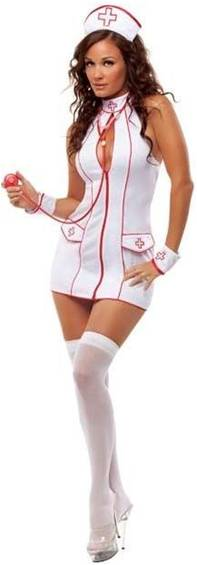 SEXY FRISKY NURSE COSTUME FOR WOMEN