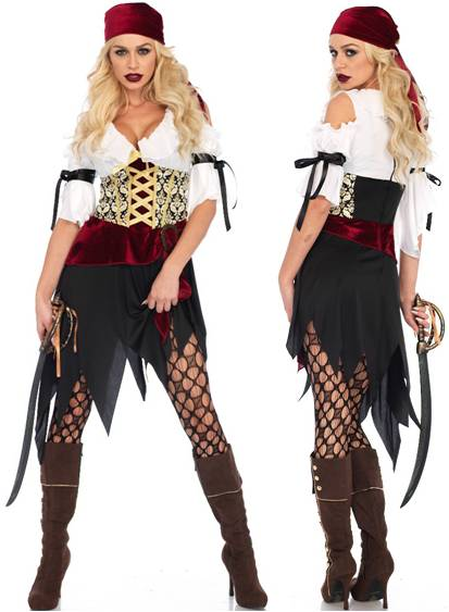 SEXY HIGH SEAS WENCH PIRATE COSTUME FOR WOMEN