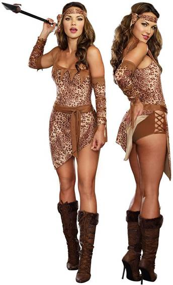 SEXY JUNGLE FEVER CAVE GIRL COSTUME FOR WOMEN
