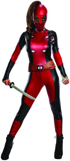 DELUXE SEXY LADY DEADPOOL COSTUME FOR WOMEN