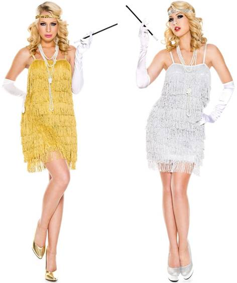 LUSTROUS FLAPPER COSTUME FOR WOMEN