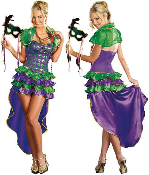 Dress up for fat tuesday in this great mardi gras costume includes a