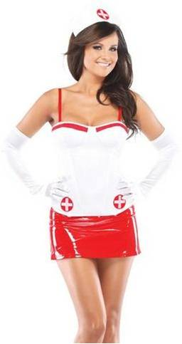 SEXY NURSE CORSET COSTUME ACCESSORY FOR WOMEN