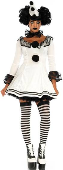 SEXY PIERROT CLOWN COSTUME FOR WOMEN