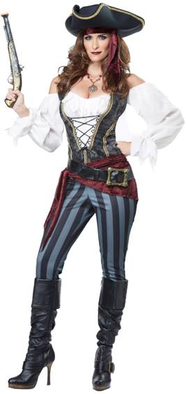 BRAZEN BUCCANEER PIRATE COSTUME FOR WOMEN