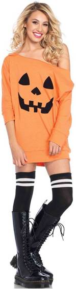 SEXY CUTE PUMPKIN COSTUME DRESS FOR WOMEN