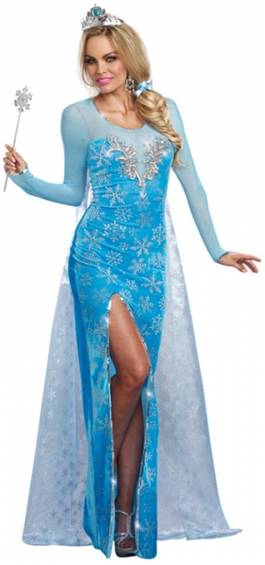 DELUXE SNOW ICE QUEEN COSTUME FOR WOMEN