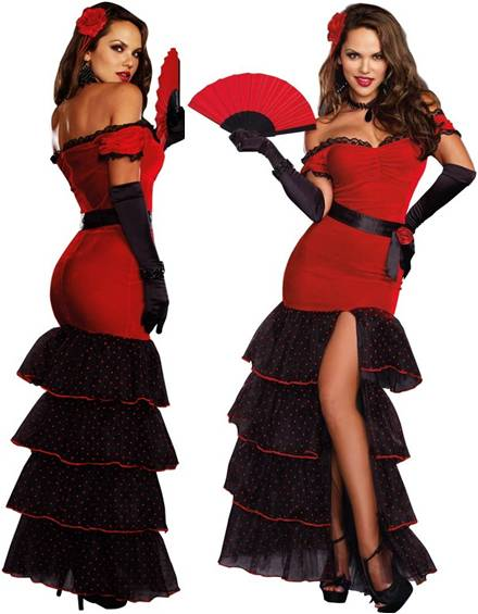 SEXY FLAMENCO COSTUME FOR WOMEN