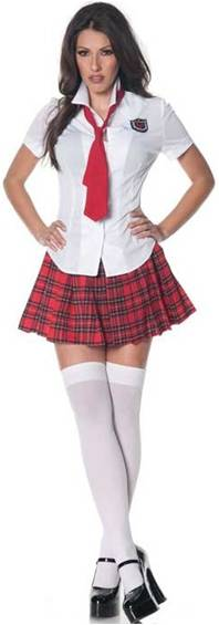 TEACHER'S PET SEXY SCHOOLGIRL COSTUME FOR WOMEN