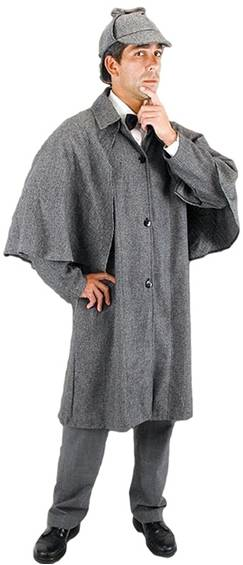 DELUXE SHERLOCK HOLMES COSTUME JACKET FOR MEN