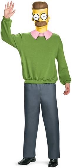 THE SIMPSONS NED FLANDERS COSTUME FOR MEN