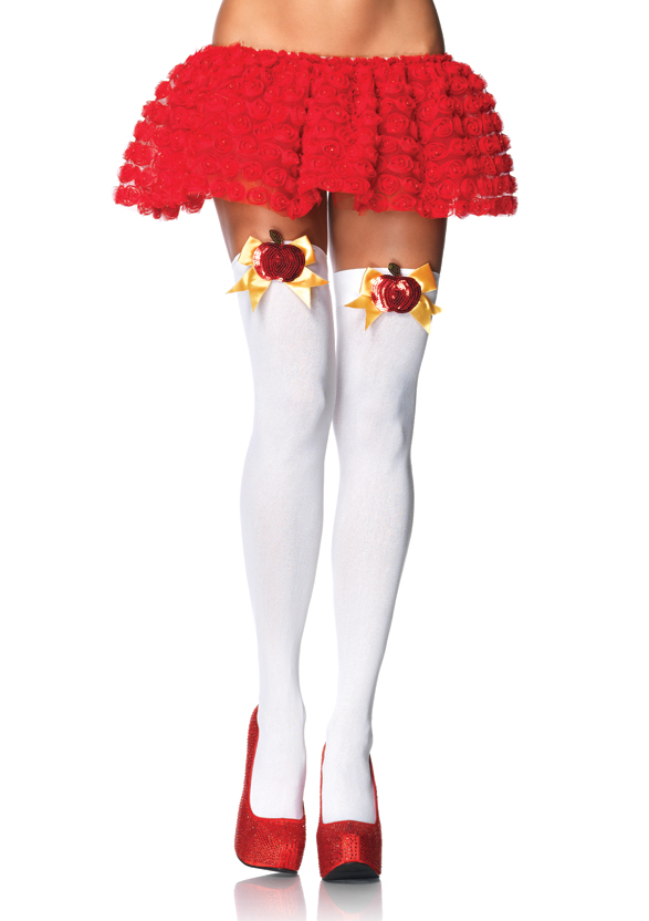 SNOW WHITE POISON APPLE THIGH HIGHS