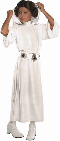 STAR WARS PRINCESS LEIA DELUXE COSTUME FOR GIRLS