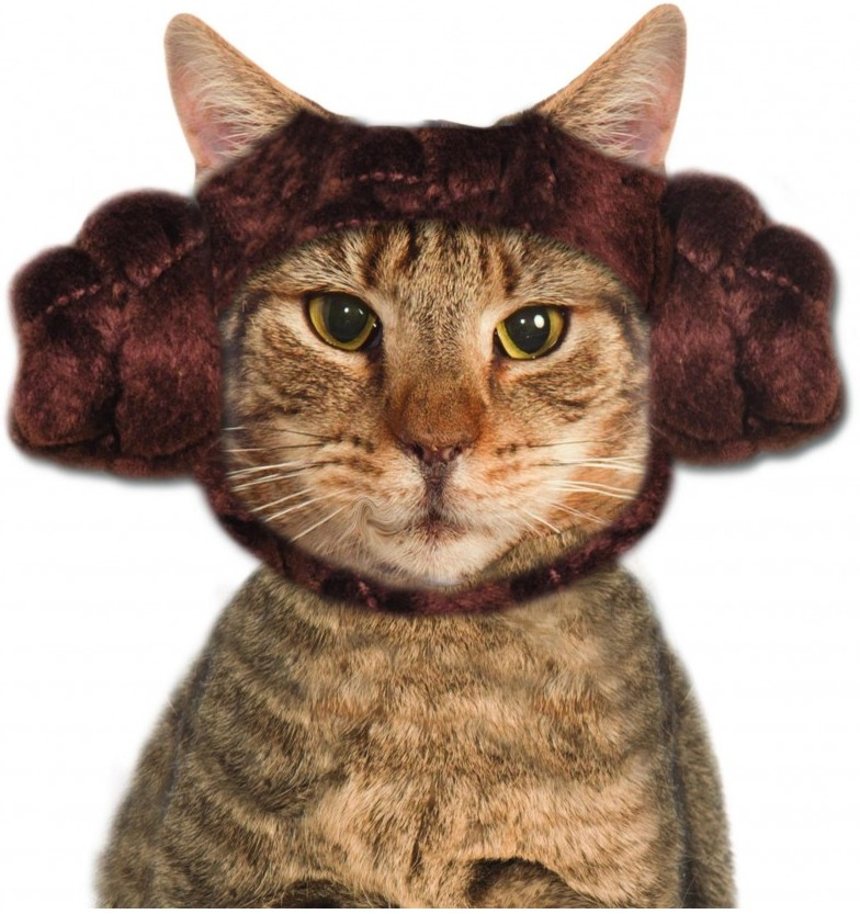 PRINCESS LEIA COSTUME HEADPIECE FOR CATS