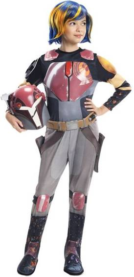 STAR WARS REBELS SABINE WREN COSTUME FOR GIRLS
