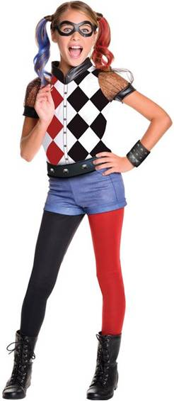 SUICIDE SQUAD HARLEY QUINN COSTUME FOR GIRLS