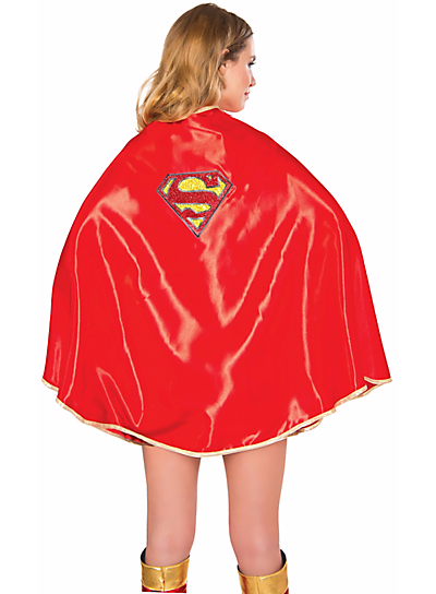 DELUXE SUPERGIRL COSTUME CAPE FOR WOMEN