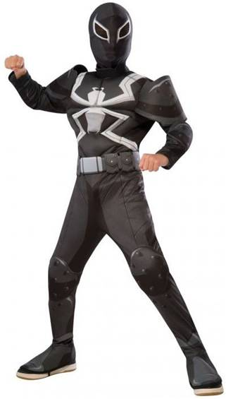 DELUXE AGENT VENOM COSTUME FOR BOYS