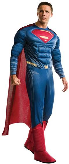 BvS DELUXE SUPERMAN MUSCLE CHEST COSTUME FOR MEN
