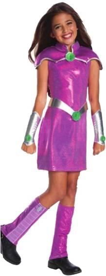 *TEEN TITANS DELUXE STARFIRE COSTUME FOR GIRLS
