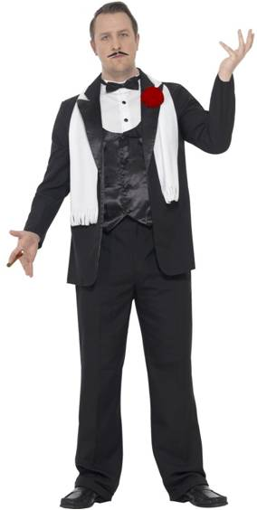THE GODFATHER CURVES GANGSTER COSTUME FOR MEN