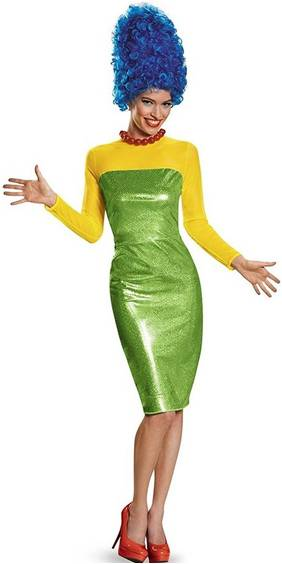 THE SIMPSONS MARGE SIMPSON COSTUME FOR WOMEN
