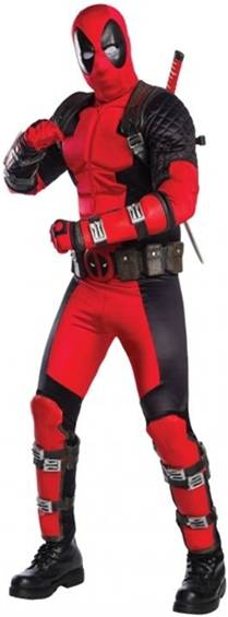 THEATRICAL QUALITY DEADPOOL COSTUME FOR MEN