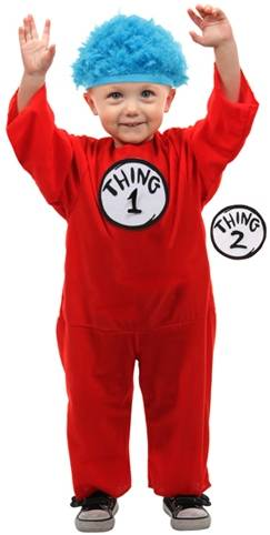 THING 1 and 2 COSTUME FOR INFANTS