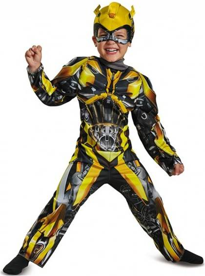 DELUXE MUSCLE BUMBLEBEE COSTUME FOR TODDLER BOYS