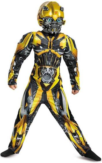 DELUXE MUSCLE BUMBLEBEE COSTUME FOR BOYS