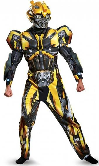 DELUXE MUSCLE TORSO BUMBLEBEE COSTUME FOR MEN