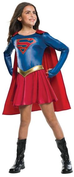 *STORE ONLY*SUPERGIRL TV SHOW COSTUME FOR GIRLS