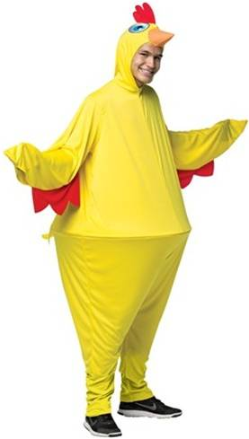 CHICKEN HOOPSTER COSTUME FOR ADULTS