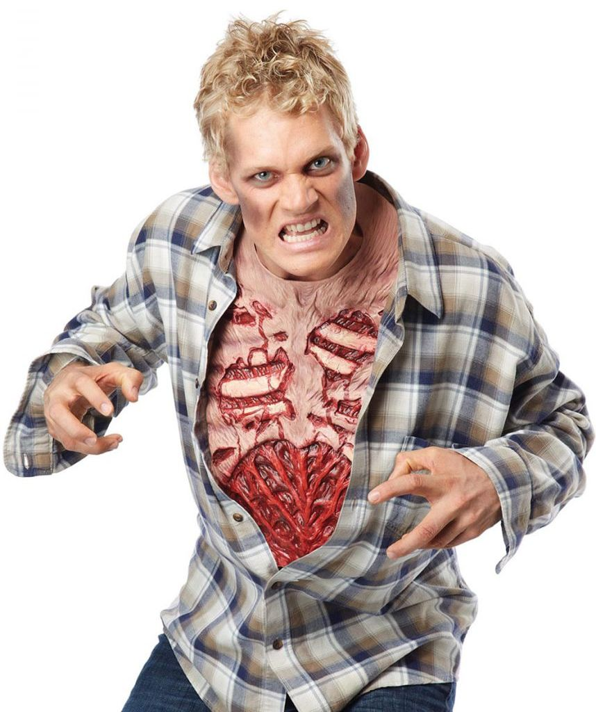 ZOMBIE CHEST COSTUME ACCESSORY FOR ADULTS