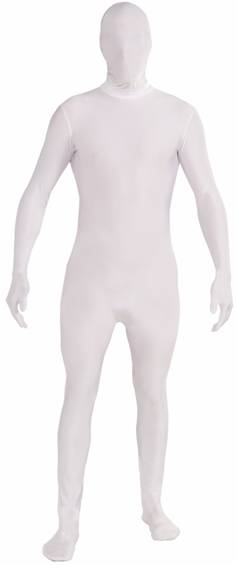 WHITE DISAPPEARING MAN SKIN SUIT