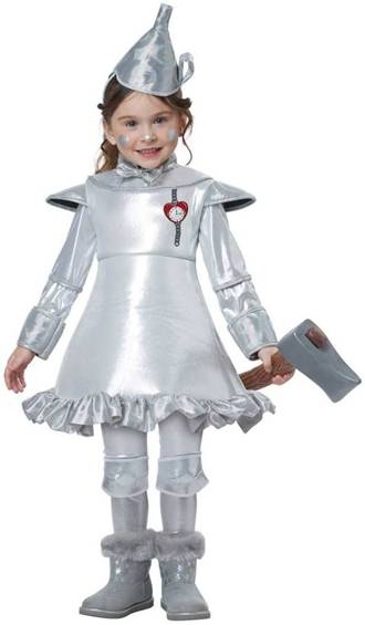 WIZARD OF OZ TIN MAN COSTUME FOR GIRLS